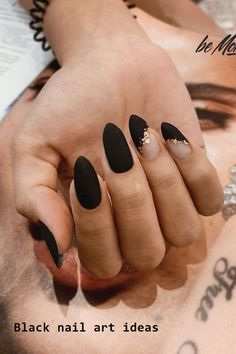 Here are some cute winter nail designs between black and silver glitter nails, black and gold glitter nails, and black marble nails designs. Black Marble Nails, Black Stiletto Nails, Silver Glitter Nails, Matte Black Nails, Black Nail Art, Burgundy Nails, Marble Nail Designs, Fall Nail Art Designs, Black Nail Designs