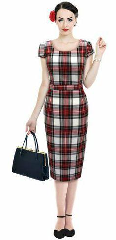 1950s 50's Dress Stewart Red Tartan