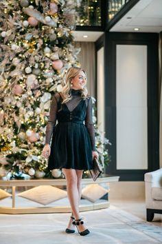 Sparkle Turtleneck + Sleeveless Dress   bows & sequins