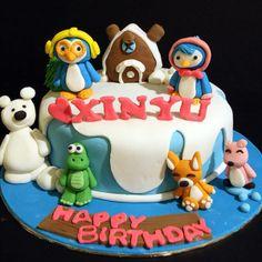 Handcraft sweet fondant cake with 3D Pororo the Little Penguin 新山吉隆坡槟城首选网络蛋糕店 #FondantCake #JohorBahru #KualaLumpur  http://cakedeliver.com/Fondant_3DCakes_Pororo_The_Little_Penguin/