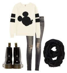 """""""Mickey Mouse"""" by truedirectioner-belieber ❤ liked on Polyvore featuring R13, Uniqlo, Dr. Martens and Old Navy"""