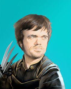 Artist Brandon Bird (via Sir Mitchell) imagined Peter Dinklage as Wolverine.