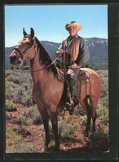 ben cartwright  | Details zu tolle AK Bonanza, Ben Cartwright auf seinem Pferd, Lorne ...