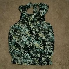 Shirt Multi color halter top size large takara Tops Blouses