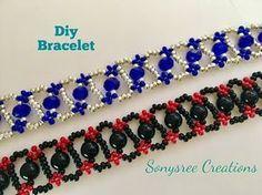 DIY bracelet, Simple and Easy Tutorial – Seed Bead Tutorials Easy Beading Tutorials, Seed Bead Tutorials, Seed Bead Patterns, Beaded Jewelry Patterns, Beading Projects, Beading Patterns, Beading Jewelry, Diy Beaded Bracelets, Diy Bracelets Easy