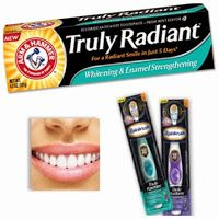 Radiant smile with arm and hammer truly radiant toothpaste toothbrush free sample toothpaste Stacking Coins Saving Money SCSM