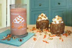 Carrot Cupcake Ring Candle