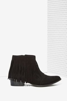 Nasty Gal Coyote Call Suede Ankle Boot
