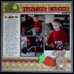 Hunting Easter Eggs - Scrapbook.com  create a critter bunny
