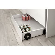 Zocal box pulls out from under cabinets for extra kitchen storage Kitchen Room Design, Home Decor Kitchen, Interior Design Kitchen, Kitchen Furniture, Home Kitchens, Kitchen Ideas, Diy Kitchen Storage, Kitchen Organization, Hanging Kitchen Cabinets