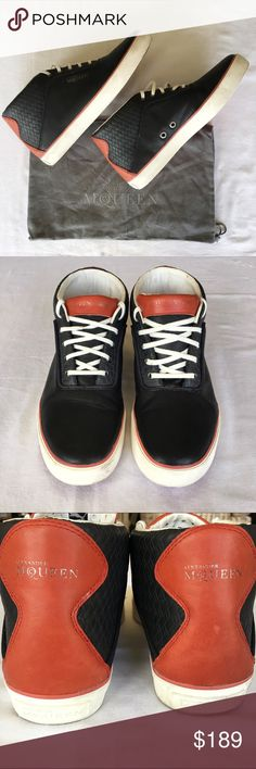 [24] ALEXANDER MCQUEEN PUMA Sneakers Alexander McQueen Puma sneakers. Deep blue and red with white laces. Like new, minimal wear. No trades 🚫 Alexander McQueen Shoes Athletic Shoes