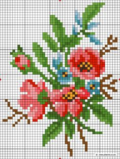 Mini Cross Stitch, Beaded Cross Stitch, Cross Stitch Borders, Cross Stitch Rose, Modern Cross Stitch Patterns, Cross Stitch Flowers, Cross Stitch Designs, Cross Stitching, Cross Stitch Embroidery