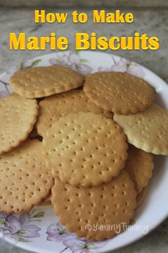 How to Make Marie Biscuits at Home is part of Marie biscuit - Recipe Source Here Marie biscuits can be made easily at home This biscuits taste so good just like the real ones This biscuits can be stored in a air tight container for 3 to 4 days Homemade Oreo Cookies, Eggless Cookie Recipes, Eggless Baking, Cake Recipes, Snack Recipes, Snacks, Healthy Recipes, Healthy Eats, Sweet Recipes