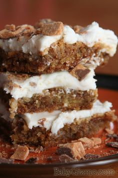 Butterfinger Blondies Recipe