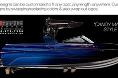 Boat Wraps | Marine Vinyl Graphics | Wake Graphics Sanger Boats, Red Crafts, Boat Wraps, Kiss Of Death, How To Wrap Flowers, Rough Riders, Culture Shock, Boat Painting, Pacific Blue