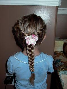 jardindejoy: Little Girl's Hairstyles - 2 Side twists to low braided pony 7-10 min
