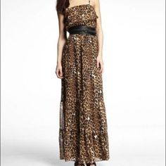 Express Cheetah Print Maxi Dress