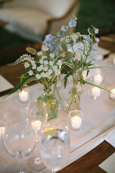 Tiny wild flower bouquets