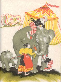 CIRCUS BABY kids' book illustration - by Maud & Miska Petersham by scraps-peace-art Colorado, via Flickr