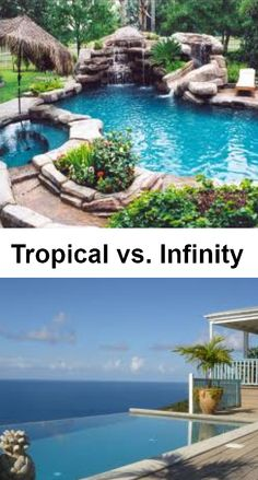 Would you rather have a tropical pool or an infinity pool? #swimming #jacuzzi…