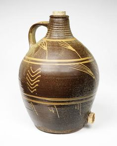 Michael Cardew, Cider jar with cork . - CSC - VADS: the online resource for visual arts Earthenware, Stoneware, Antique Pottery, Simple Minds, Clay Pots, Ceramic Artists, Cork, Sculptures, Porcelain