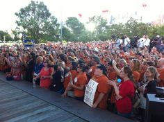 Huge crowd at Stand With Texas Women rally in Houston yesterday