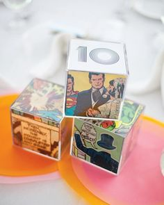 "See the ""Comic Book Table Numbers"" in our Casual Wedding Ideas gallery - Geek Weddings! ;-D"