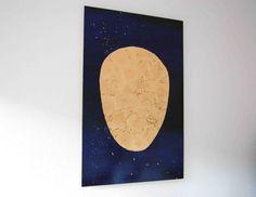 Head Fake :: oil and Thai gold leaf on birch plywood :: 80x122 cm :: 2015 :: Frances Raboen
