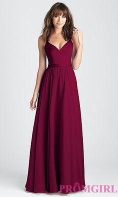 Burgundy Classic A-Line Long Prom Dress in Burgundy Red | Prom girl teen