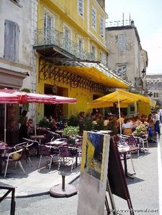 Where Van Gogh painted Cafe at Night. Arles, France.