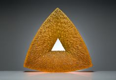 Ivana Houserová - Object: Mystic Triangle - mould-melted, cut and polished glass /// Czech Glass Art /// czech-glassart.com