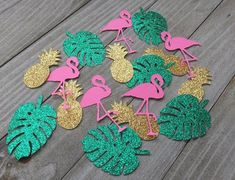 Check out our tropical bachelorette party selection for the very best in unique or custom, handmade pieces from our bridesmaids' gifts shops. Summer Party Decorations, Bachelorette Party Decorations, Birthday Party Decorations, Bachelorette Ideas, Flamingo Birthday, Flamingo Party, 41st Birthday, Summer Birthday, Luau Theme Party