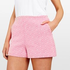 Short shorts in the cutest Aztec textured print. Fitted waistline and in seam pockets make these shorts the perfect daytime piece to add to your summer wardrobe. Crafted in firm soft cotton. Our model wears size AU 8. She usually wears a standard AU 8/Small, is 178cm tall, and has a 79cm bust, 89cm hips and 61cm waist. 47% POLYESTER, 39% COTTON, 14% VISCOSE, COLD HAND WASH Cold Hands, Short Shorts, Summer Wardrobe, Aztec, Short Dresses, How To Make, How To Wear, Pockets, Spring