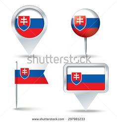 Find Map Pins Flag Slovakia Vector Illustration stock images in HD and millions of other royalty-free stock photos, illustrations and vectors in the Shutterstock collection. Thousands of new, high-quality pictures added every day. Map Vector, Slovenia, Royalty Free Stock Photos, Flag, Illustration, Pictures, Photos, Science, Illustrations