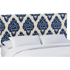 Diamond Blue Upholstered Headboard