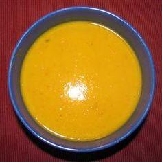 Pumpkin and Sweet Potato Soup with Coconut Milk @ http://allrecipes.com.au