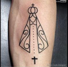 tatuagens de terço com Ave Maria
