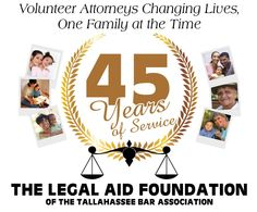 Legal Aid - Celebrating 45 years!
