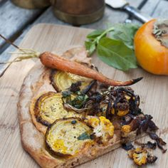 Roasted root vegetable pizza