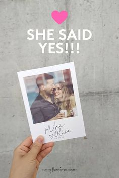 This is the cutest save the date card ever! Love the polaroid design :)