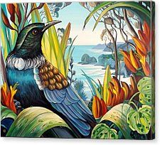 Whites Beach View Canvas Print / Canvas Art by Irina Velman Beach Cartoon, Polynesian Art, New Zealand Art, Nz Art, Maori Art, Kiwiana, Bird Illustration, Illustrations, Elements Of Art