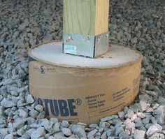 concrete pier footing - I will do two if similar for my patio cover frame.