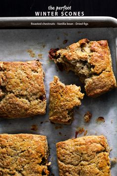 Winter Scones with roasted chestnut, vanilla bean and dried figs