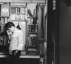 """babeimgonnaleaveu: """"  James Dean in his apartment on West 68th Street, New York City, 1955. """""""