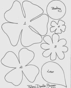 Moldes y diseños de flores en fieltro ~ cositasconmesh