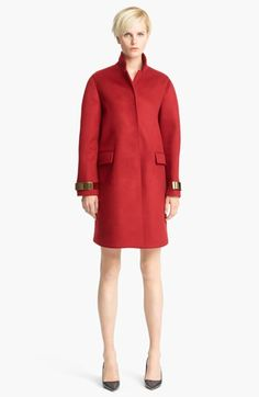 Burberry Prorsum Metal Hardware Caban Coat available at #Nordstrom