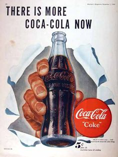 1947 Coca Cola advertisement. Illustrated in vibrant color. Includes 2¢ wartime tax special pricing.