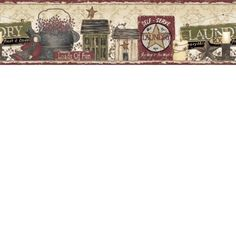 Loads of Fun Red and Yellow Country Border Cool Wallpaper, Wallpaper Borders, Laundry Signs, Border Pattern, Big Ben, Pure Products, Country, Yellow, Instant Pot