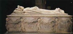 Jacopo della quercia - nagrobek Ilarii dell'Carretto; rzymski motyw girland