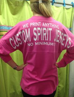 Custom Spirit Jersey no minimum by whalestailboutique on Etsy, $51.95